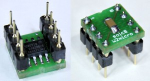 SOIC-8 SMD chip in DIL-8 adapter