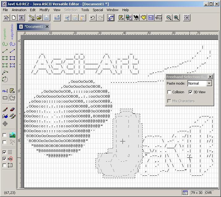 Java write ascii